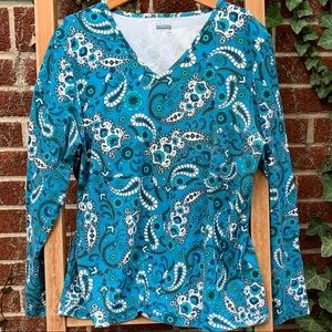 Basic Editions cotton top. paisley XL